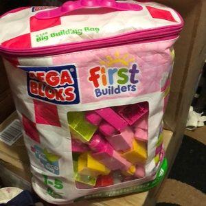 Mega blocks in zipper bag